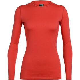 Icebreaker 200 Oasis LS Crew Top Women fire